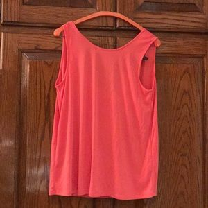 BCBG pink scoop back top